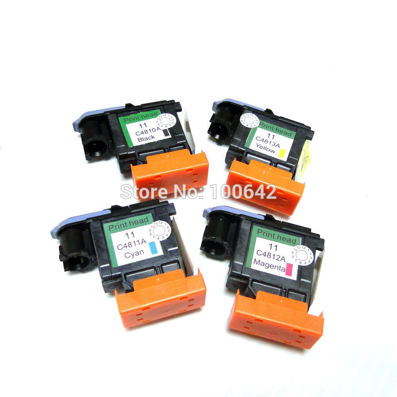 YOTAT 2set 11 Printhead C4810 C4811 C4812 C4813 for HP11 HP 11 Print head Jet 1000/1100/1200 Series/1700 S/2200/2230