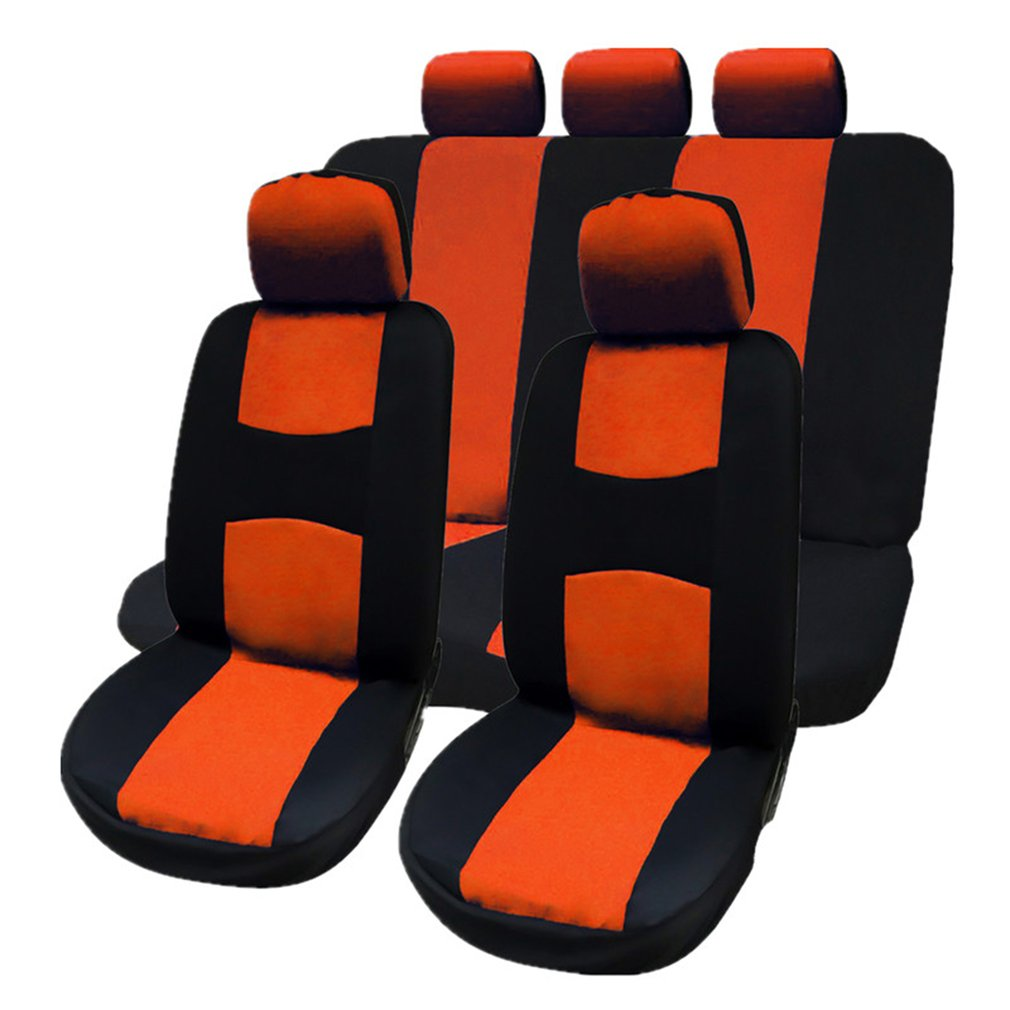 Universal 9Pcs Car Seat Covers Car Styling Automobile Seat Protection Cover Vehicle Seat Covers Car Accessories
