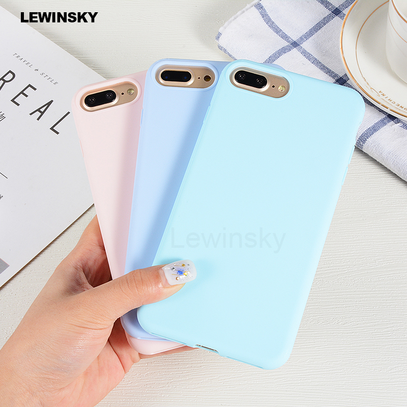 Candy Color Soft Silicone TPU Cover For iPhone 5 5S 6 6S 7 8 Plus X Case Ultra thin Phone Cases For iPhone X 7 8 Back Coque Case