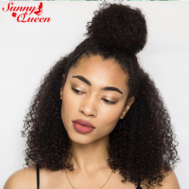 360 Lace Wigs 8A Brazilian Afro Kinky Curly Lace Front Human Hair Wigs For  Black Women 180% Density Full Lace Human Hair Wigs a685ec7b1
