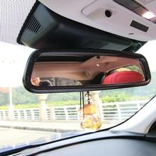 Для Jaguar XF XE XFL F-PACE 2016 2018 2017 АБС карбоновое волокно автомобиля передний внутренний вид зеркальное покрытие накладка автомобиля-аксессуары для укладки