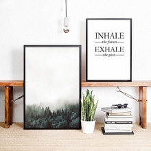 Nordic Minimalist modern style landscape Inspirational Motivational Poster Canvas Wall Room Home Decoration