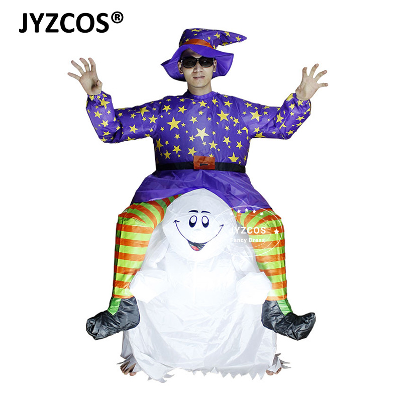 Scary Halloween Inflatable Costume Blow Up Suit Party Fancy Dress Cosplay Outfit