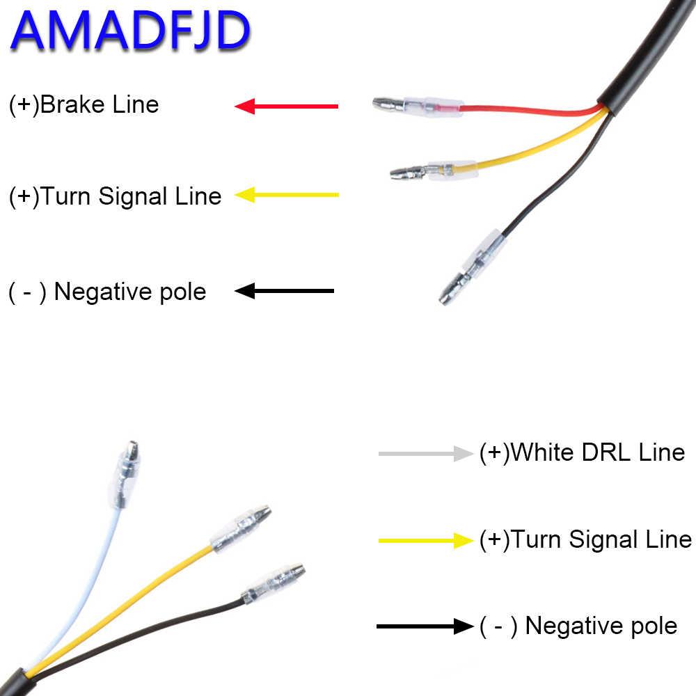 amadfjd 2 4pcs turn signal flowing turn signal motorcycle led blinker motorcycle flasher light drl [ 1000 x 1000 Pixel ]