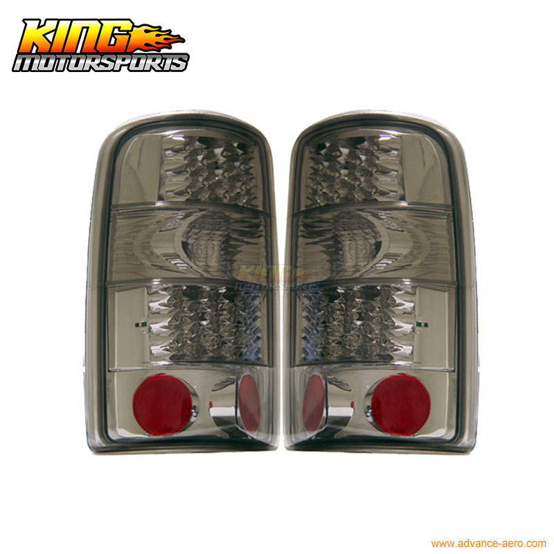 for 2005 2007 06 chrysler 300 300c led tail lights black lamps usa domestic free shipping For 00-06 Chevy Tahoe Suburban Denali LED Tail Lights Smoke 01 02 03 04 05 USA Domestic Free Shipping