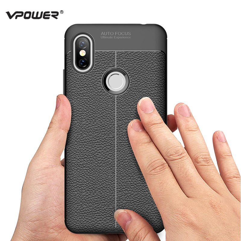 Case For Xiaomi Redmi S2 Funda Vpower Lichee Pattern Shock Proof Soft TPU Phone Cases Capa For Xiaomi Redmi S2 S 2 Back Covers in Fitted Cases from Cellphones Telecommunications