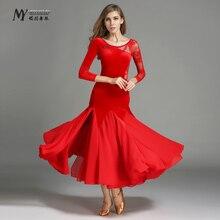 Adult modern dance set my743 744 skirt ballroom dancing clothes long-sleeve velvet free shipping