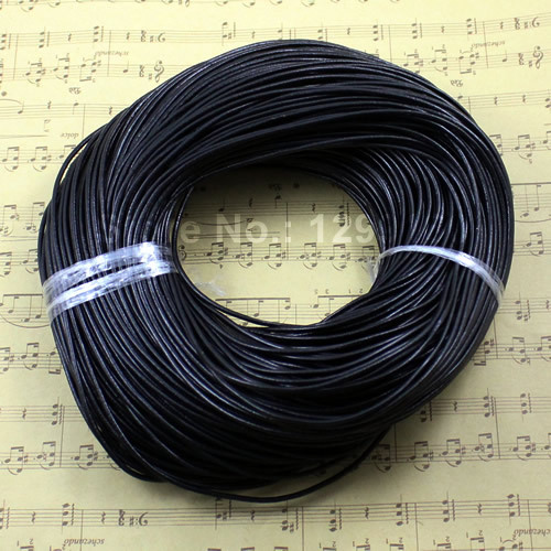 20meters/lot 2mm genuine round cow leather cord jewelry cord for necklace bracelet DIY jewelry accessories K01761