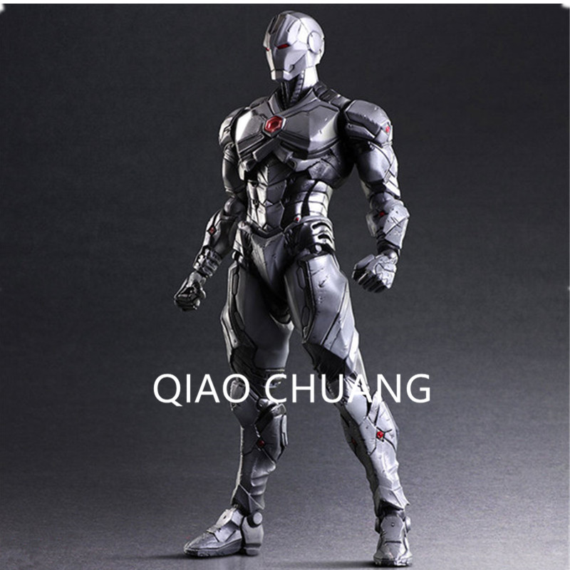 все цены на 27CM Avengers:Infinity War Superhero Tony Stark Iron Man Robert Downey Jr Grey Limit Action Figure Model Doll G52