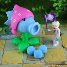 New PVZ Plants vs Zombies Peashooter PVC Action anime Figure Model Toy Gifts Toys For