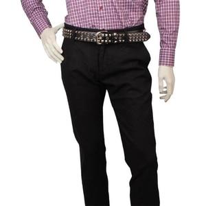Image 4 - Punk style Big metal rivet belt women Round rivets Spike sequins belt punk Simple decorative waistband belt for men