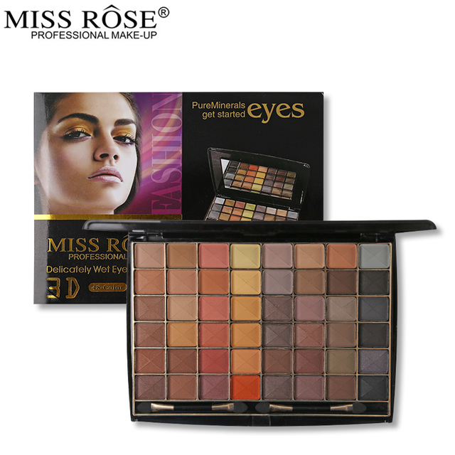 Мисс Роуз 48 земли Цвет тени для век Палитры 3D матовая Тени для век глаз Макияж