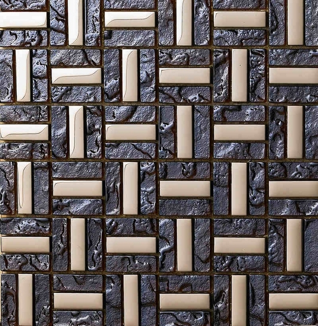 New Design Metal Mixed Glass Mosaic Tile For Kitchen Backsplash