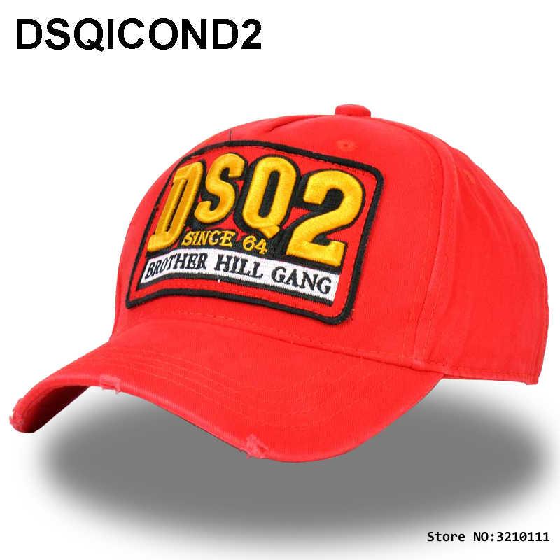 DSQICOND2 DSQ Solid Muster Hüte Buchstaben DSQ2 Baseball Kappe ICON Kappe für Mann Frau Schwarz Kappe Dad Hüte