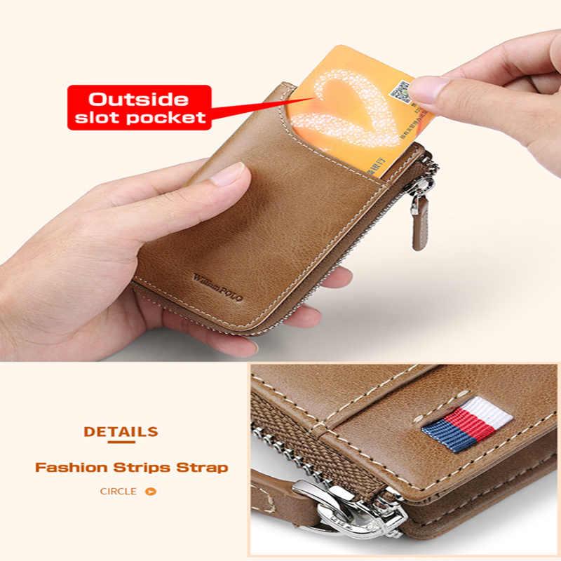 Винтажный держатель для ключей на молнии из натуральной кожи мужской автомобильный органайзер для ключей с брелком портмоне модный кожаный чехол для ключей PL309