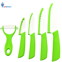 High Quality Kitchen Knives Zirconia Ceramic Knife Set 3 4 5 6 Inch Peeler Green Covers