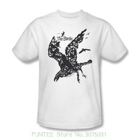 Comical Shirt Men S The Birds T Shirt Alfred Hitchcock Classic Horror Movie White Cotton Tee