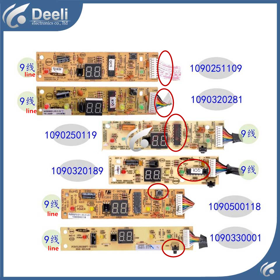 95% new good working for TCL Air conditioning display board remote control receiver board plate 1090350005 1090251109 cs3310 remote preamplifier board with vfd display 4 way input hifi preamp remote control digital volume control board