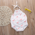 New Baby Girls Clothes 0-24M Infant Toddle Kids Swan Baby Bodysuit Summer Sleeveless Cute Bebe Jumpsuit One Pieces Playsuit