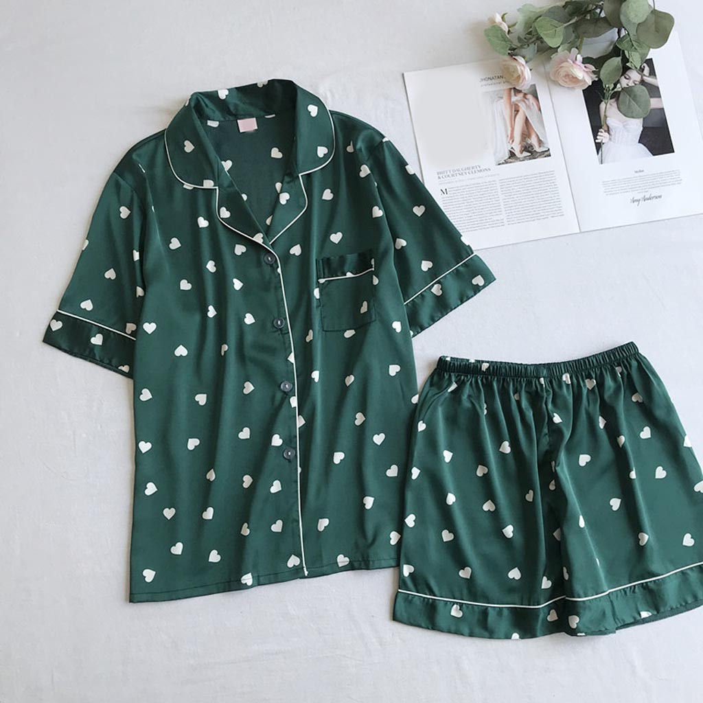 ZHDAOR Summer NEW Daily High Quality Womens Sexy Shorts Sleeve Sleepwear Short  Nightwear Pant Sets  Free Ship N4