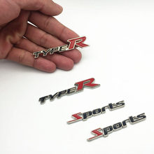 2PCS/set 3D Metal Sports Emblem Car Truck Motor Sticker Auto Decal car-styling for Chevrolet cruze Ford focus 2 3 mazda Granta стоимость