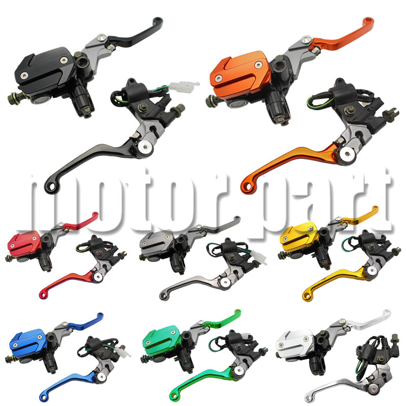 Dirt bike 22MM 7/8 Handlebars Hydraulic Brake Master Cylinder Reservoir Levers For KTM 250 300 400 500 530 EXC EXC-R XCR-W XC-W rear brake master cylinder for polaris trail blazer 250 330 400 magnum trail boss 325 330 scrambler 400 500 xpedition 325 425
