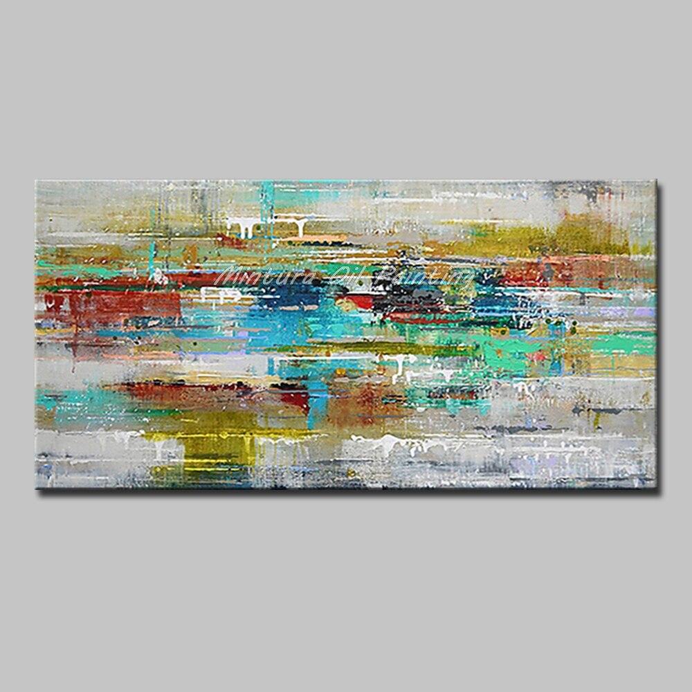 Mintura Art Большой размер Ручная роспись абстрактный пейзаж картина маслом на холсте современный настенный Декор картина для гостиной без рамы - Цвет: MT161281