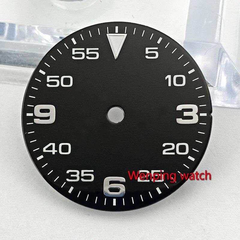 Milímetros Preto Marcação Estéril Ajuste Eta 2824 2836 Miyota 8215 Movimento Mecânico Automático Assistir P884 29.5