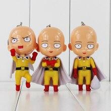 One Punch Man 3pcs/set Figure Saitama Sensei Figure Keychain