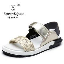 Сандалии платформы 2017 новый летний новый мужские сандалии кожаные дышащие повседневная обувь кожаные сандалии Кожаные Сандалии
