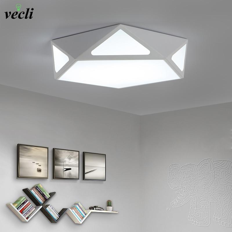 Simple modern balcony ceiling lamps LED creative romantic lighting lamp geometric Nordic room bedroom lamp 85-265V 24W
