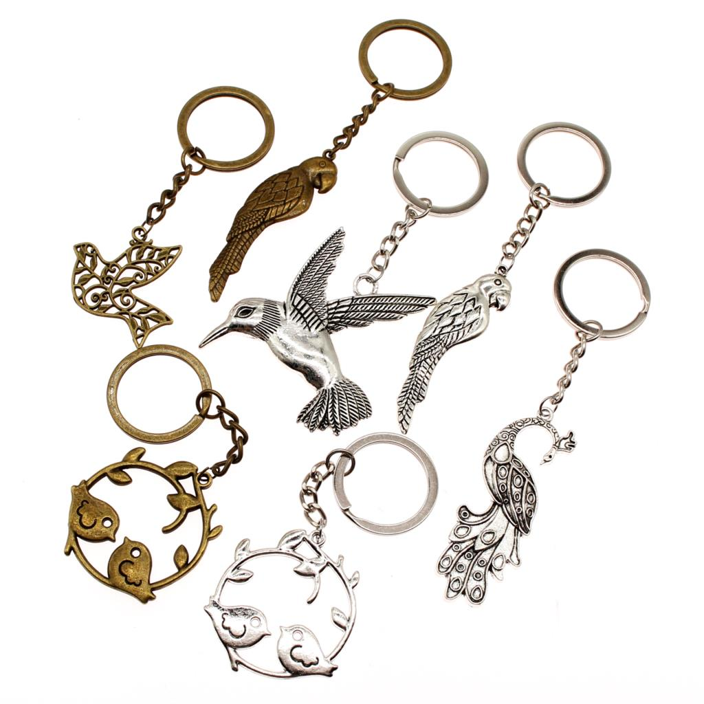 High Quality Key-Rings Bird Keychain Car Keychain Handmade Car Metal Pendant Bag Charm Keyring For Phone Accessories For Women
