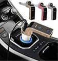 Car Bluetooth MP3 Player Golden For Phones  FM Transmitter LCD Wireless  SD Modulator Auto MP3 Player