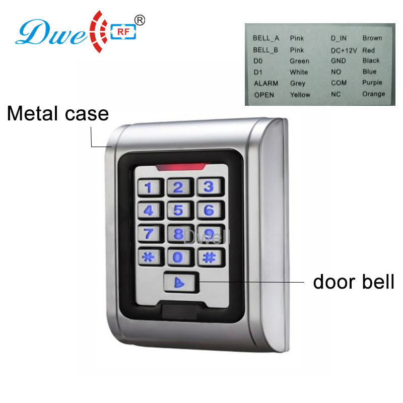 DWE CC RF access control card reader rfid integrated reader IP 68 mini 123 key card readers with door bell function dwe cc rf contactless 125khz rfid plug and play reader with usb interface reading decimal or hexadecimal