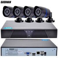 GADINAN ONVIF HD CCTV System 1080P 8CH NVR And 4PCS 720P IP Outdoor Video Surveillance Security