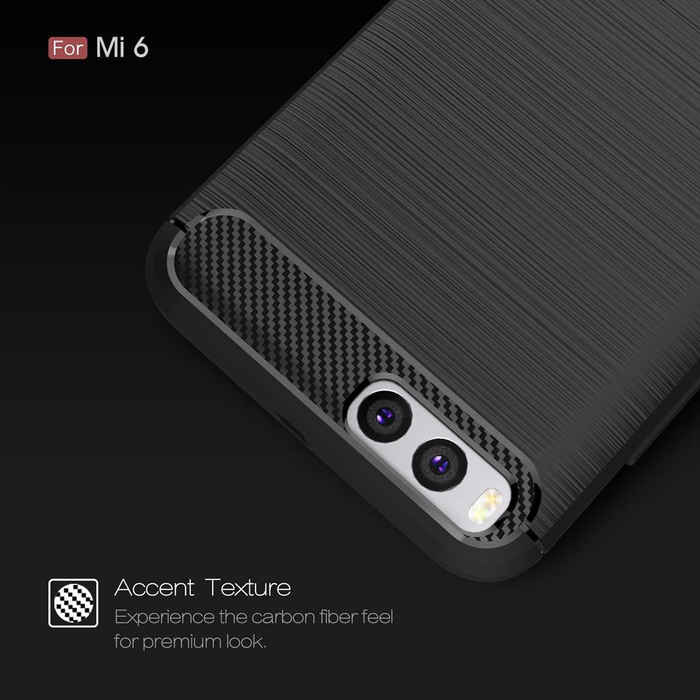 Xiaomi mi6 mi 6 arxa örtük üçün orijinal Carbon Fiber Soft TPU - Cib telefonu aksesuarları və hissələri - Fotoqrafiya 3