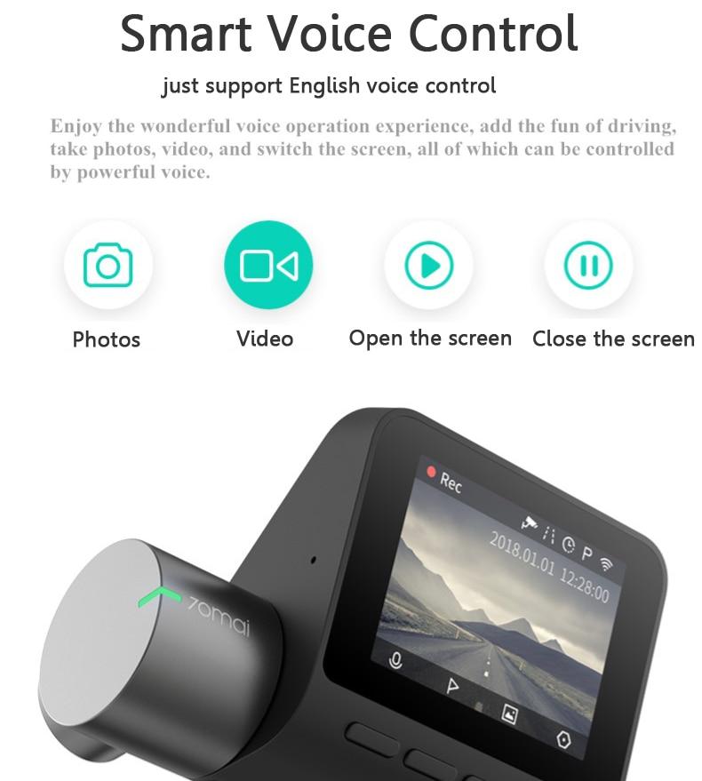 70mai регистраторы Pro 1944 P HD Wi Fi автомобильный dvr ночное видение Английский Голос управление камера 140 градусов FOV Авто Видео регистраторы Defog ADAS