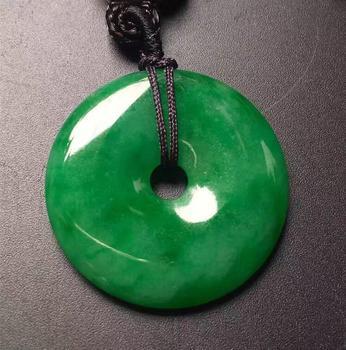 bc8c932892df Hermosa al por mayor chino natural tallada a mano armonía suerte verde  jades colgante + cuerda