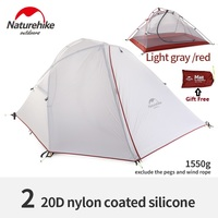 Brand Naturehike Wind Wing 3season Aluminum Rod 1 2 Persons Outdoor Tent Camping Hiking Tent Rainproof