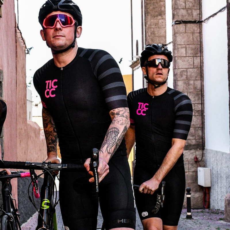 Discount 2019 Ticcc New cycle clothing tops Black cycling Jersey with pink Logo Summer This Top brand Cambridge Mens ride shirt 32998148530