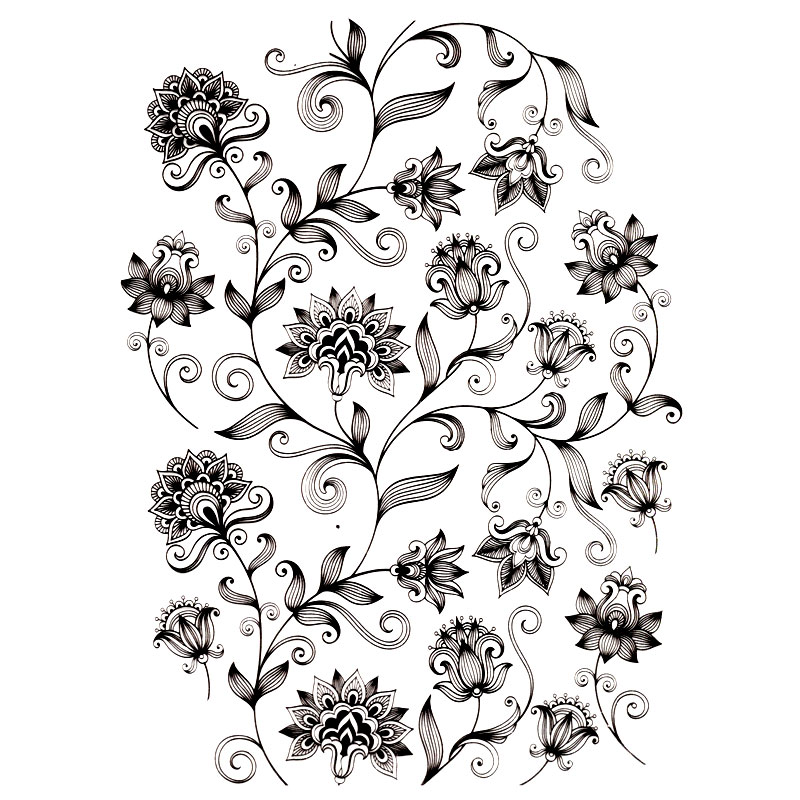 News Totem of flowers texture Scrapbook DIY photo cards account rubber stamp clear stamp transparent stamp Handmade card stamp