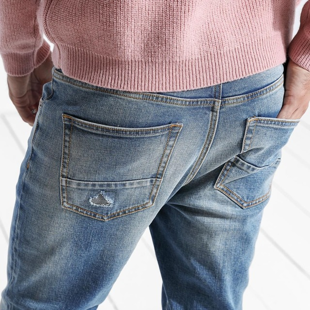 Ripped Slim Fit Denim Jeans For Men 3