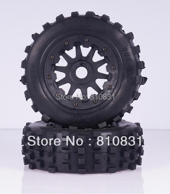 Freeshipping The front large nail tires off-road tires kit for baja 5T/SC