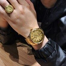 NAVIFORCE New Fashion złoty analogowy zegarek kwarcowy na rękę mężczyźni Top luksusowa marka wodoodporne zegarki sportowe zegar męski Relogio Masculino