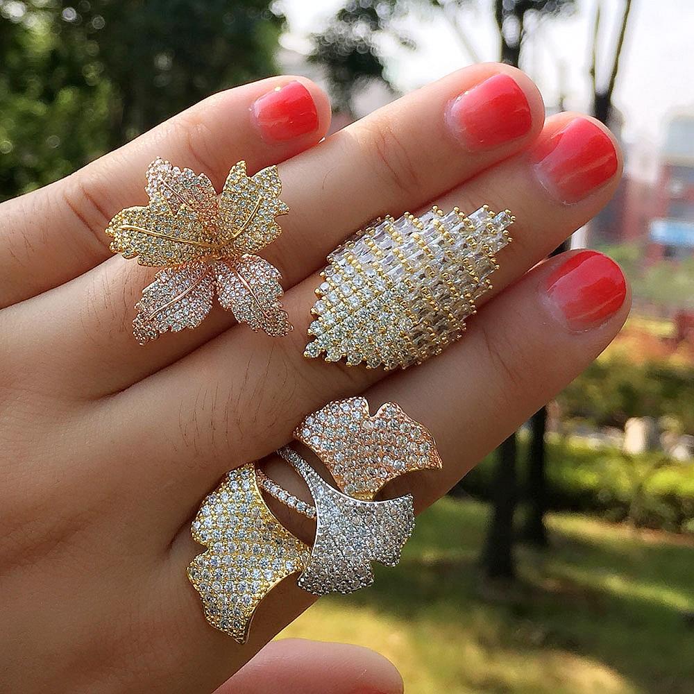 Hochzeits- & Verlobungs-schmuck Godki Monaco Designer Luxus Twist Linien Geometrie Cubic Zironium Engagement Dubai Naija Braut Finger Ringe Schmuck Sucht Schmuck & Zubehör