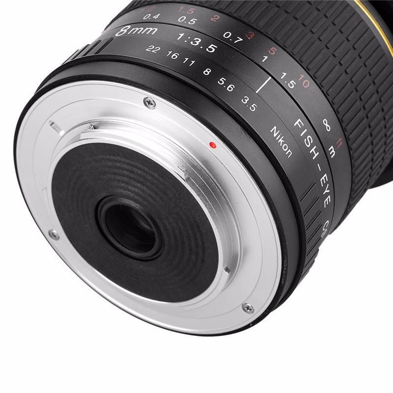 8mm F/3.5 Ultra Wide Angle Fisheye Lens for Nikon DSLR Cameras D3100 D30 D50 D5500 D7000 D70 D800 D700 D90 5