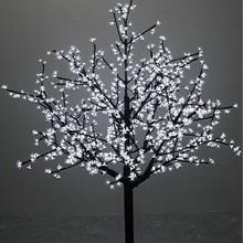 1,5 м/5 футов высота наружная Водонепроницаемая искусственная Рождественская елка светодиодный светильник цветущая вишня 480 шт. светодиодный s прямой ствол дерева