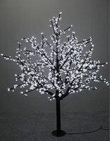 1.5 m/5ft גובה חיצוני עמיד למים מלאכותי עץ חג המולד LED פריחת דובדבן עץ אור 480pcs נוריות ישר עץ תא מטען-בתאורת חג מתוך פנסים ותאורה באתר