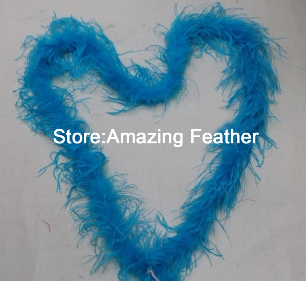Free shipping 10yard/lot Royal Blue quality dyed 1ply OSTRICH FEATHER BOA with turkey feather boa for Party/Costume/Shawl/Craft