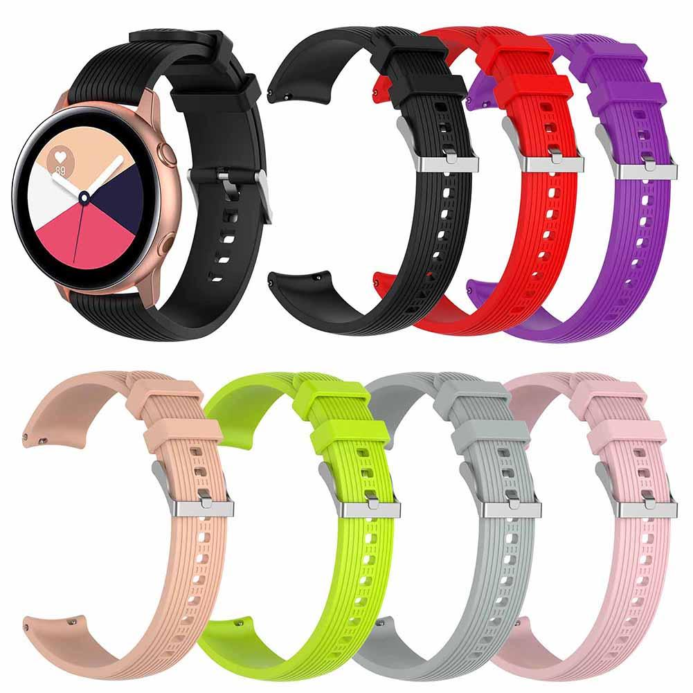 Replacement Solid Color Silicone Wristband Strap For Samsung Galaxy Watch Active 2019